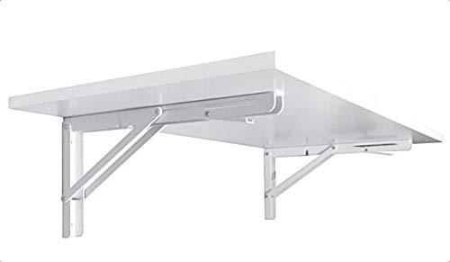 Wandklapptisch Klapptisch Wand Esstisch Schreibtisch Büro Homeoffice Tischplatte Fichte oder Weiß (Tischplatte Weiß)