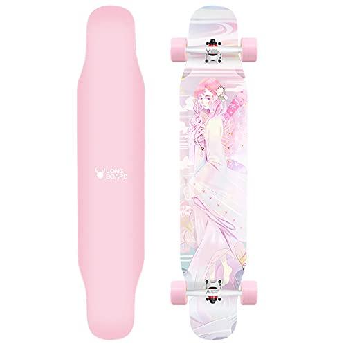 VOMI Monopatín Completo con Esmeril, Skateboard de Arce y Bambú Longboard Profesionales para Principiantes Adultos Niños, Skate Board Freestyle 45 * 9,3 Pulgada, Portante de Carga: 75kg-100kg,D