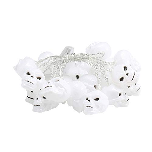 XIONGXIONG Halloween Lights Led Halloween Skull Lamp String Ghost Festival Ghost Horror Decoration Lantern Battery Box Pumpkin Lamp Creative Holiday decoration for Halloween Festival Party Decoration