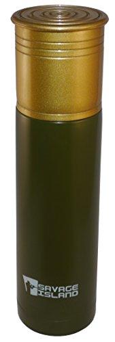 Savage Island 500ml/750ml Thermoflasche aus Edelstahl Schrotflinte Patrone Geschenk Jagd