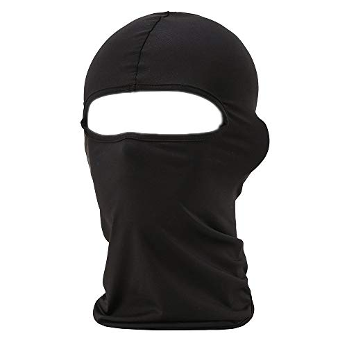 FENTI Multifunction Lycra Balaclava - Motorcycle Ski Cycling Full Face Mask , Black , One Size