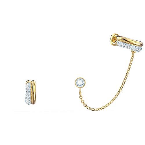 Swarovski Time Ear Cuff 5566005 - Auriculares de diadema (mezcla de metal, 1,4/0,5 x 0,5 cm), color blanco