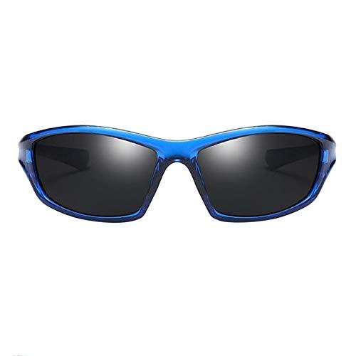 SDENSHI Gafas de Sol Deportivas para Esquí, Protección UV400 Ciclismo Bicicleta Gafas de Bicicleta, Gafas de Sol Unisex para Correr/Esquiar/Hacer Snowboar - Negro Azul