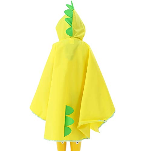 Zylxnt Regenmantel Poncho Cartoon Kinder reiten Rucksack Poncho Regenmantel (Color : Yellow, Size : XL)