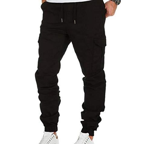 Huateng Accog Pantaloni da Uomo Pantaloni Multi Tasca Pantaloni Multi Tasca Tuta Pantaloni Sportivi Pantaloni Sportivi
