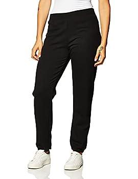 Hanes Women s EcoSmart Cinched Cuff Sweatpants Ebony Medium