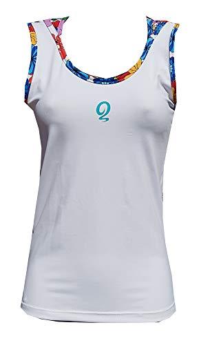 El Gusanillo - Camiseta de pádel o Tenis Lule Blanca