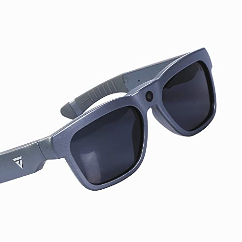 GoVision Royale Ultra High Definition Video Camera Sunglasses   Water Resistant Eyeglasses  8MP Camcorder   Wide Angle View, Unisex Design, Stylish, Water Resistant and Lightweight Frame Titanium