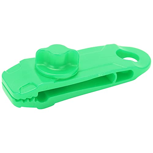Clip de Cortina de Lona, Clip de Tienda a Prueba de Viento Fijo de Nailon de diseño dentado al Aire Libre para Cubierta de Piscina(Verde)