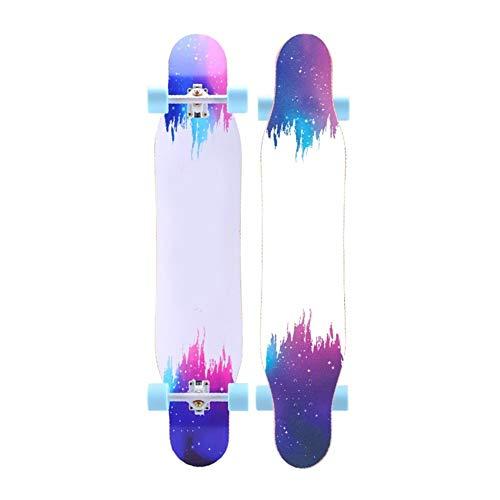ZHNA Anfänger Scooter, Double Pedal Concave Standard-Skateboard und Klein Skateboard, geeignet for Profis