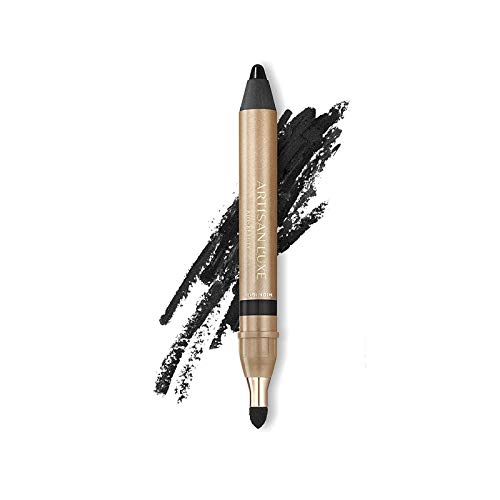 Artisan L'uxe Beauty Velvet Jumbo Eyeliner Pencil - Smokey Eyes in 3 Minutes - Water-Resistant, Smudge-Proof, Long-Lasting - Age-Defying Essential Oils - Midnight (Shade: Black)