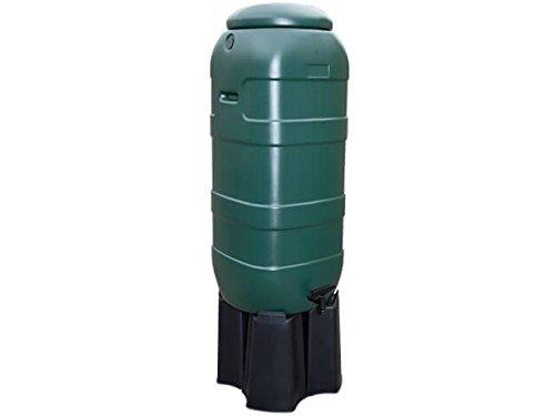 Regentonne Slimline/Rainsaver | anthrazit oder grün | 100 L. | Inkl. Fuß & Hahn (Grün)