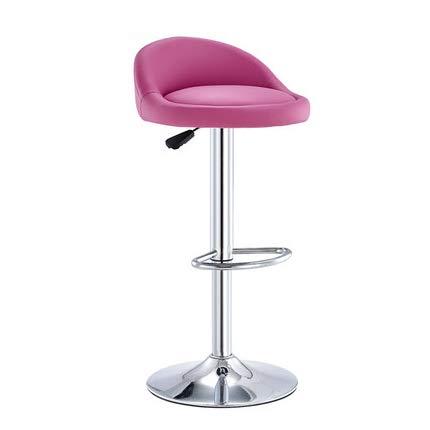 MSCHEN Barhocker Stoff Samt Rosa Pink Barstuhl mit Lehne höhenverstellbar Drehbar Tresenhocker für Hausbar, Lobby, Tresen, Lounge,Rosa