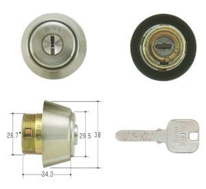 MIWA(美和ロック) JNシリンダー BHタイプ 鍵 交換 取替え MCY-240 MIWA KABA BH/LD/DZステンレスへヤーライン色(ST)33〜41mm