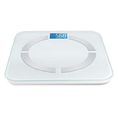 Weegschaal Body Fat analyzer, lichaamsvetgehalte, kleur wit met Bluetooth