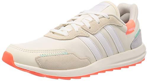 adidas RETRORUN, Zapatillas de Running Mujer, Chalk White/FTWR White/Signal Coral, 36 EU