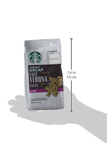 Starbucks Decaf Ground Coffee — Decaf Caffè Verona — 100% Arabica — 6 bags (12 oz.) 4 Decaf Caffè Verona coffee is well-balanced and rich with a dark cocoa texture While the look of the package has changed, this is still the same great-tasting Starbucks coffee you know and love Enjoy the Starbucks coffee you love without leaving the house
