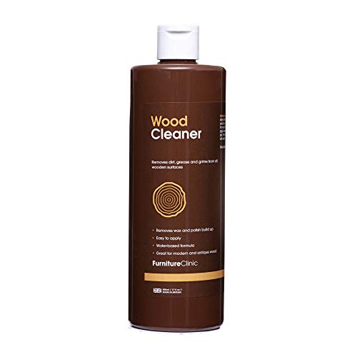 Furniture Clinic Wood Cleaner (500ml) | Restore & Clean Wooden Floors, Furniture, Blinds, Doors, Decking and Many other Wood Surfaces - Easily Remove Wax & Polish Build up, Grease and Grime