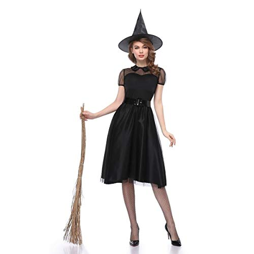 El Traje de Halloween Cosplay Atractivo de la Bruja de la Falda Larga de Cosplay Vestidos de Halloween Cosplay Vestimenta for Las Mujeres (Size : L)