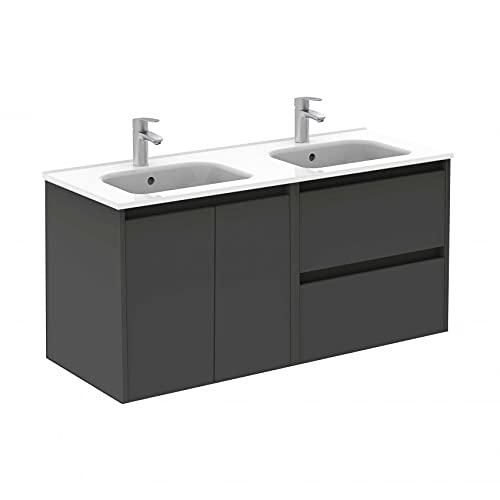 ROYO Mueble de baño 2 Puertas y 2 cajones Sansa 120x46 Antracita