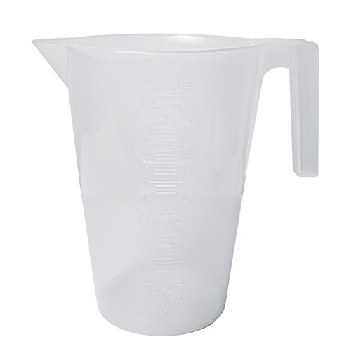Bel-Art Tall Form Heat-Resistant Polypropylene Graduated Pitcher - 3000ml - 50ml Graduation