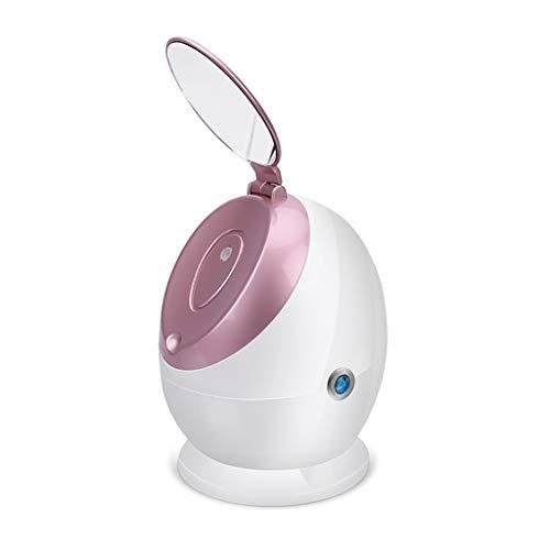LXS Portable 100ML Nano Mist Visage Steamer- Chaud Vapeur Huile Essentielle du Visage à Vapeur avec Miroir de Maquillage, Le Visage Accueil Hydratante Spa Etuve Machine pour Nettoyage à Pore