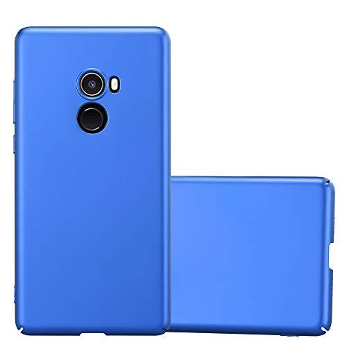 Cadorabo Funda para Xiaomi Mi Mix 2 en Metal Azul - Cubierta Protección de Plástico Duro Super Delgada e Inflexible con Antichoque - Case Cover Carcasa Protectora Ligera