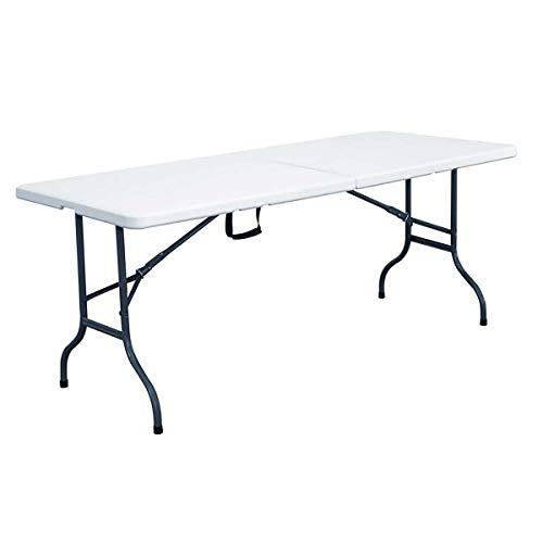 Table Pliante Blanche 152 x 70 x 74 cm, Blanc