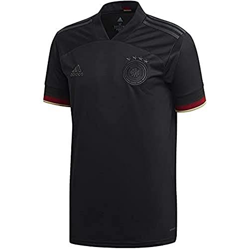 adidas Alemania Temporada 2020/21 Camiseta Segunda equipación, Unisex, Negro, M
