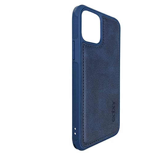 Molzar MAG Series iPhone 12/12 Pro Case, Built-in Metal Plate for Magnetic Car Phone Holder, Support Qi Wireless Charging, Compatible with iPhone 12/12 Pro, Blue