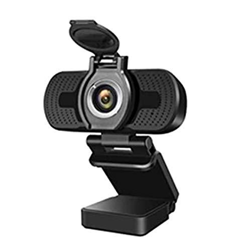 Cámara de computadora 1080P Cámara de Video en Vivo con Tapa ABS Lente óptica Plug and Play Micrófono de reducción de Ruido Digital Completo