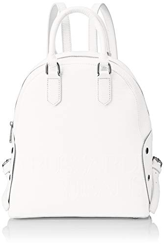 Trussardi Jeans Damen Melly Backpack Rucksack, Weiß (Bianco), 26.5x30x11 centimeters