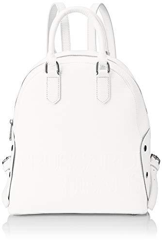 Trussardi Jeans Melly Backpack, Zaino Donna, Bianco, 26.5x30x11 cm (W...