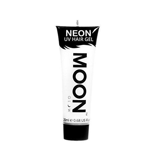 Moon Glow - Gel para el Cabello Neón UV - Blanco 20 ml - ¡Péinate de punta y brilla!
