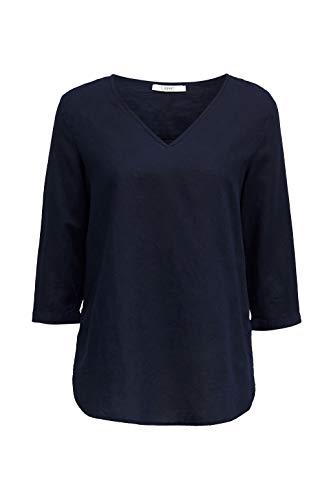 Esprit Damen 040EE1F315 Bluse, 400/NAVY, 44