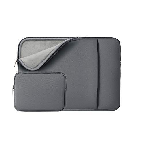 RAINYEAR 11-11,6 Zoll Laptop Hülle Sleeve Gepolsterte Laptophülle Schutzhülle mit Fronttasche & Zubehör Tasche Kompatibel 11,6 MacBook Air für 11 Notebook Chromebook(Grau,Aktualisierte Version)