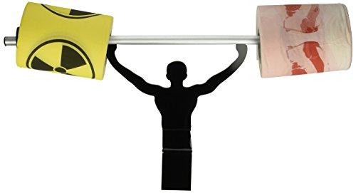 Fairly Odd Novelties Bacon & Toxic Symbol Novelty Toilet Paper w/Strong Man Holder Funny Food Gift Set