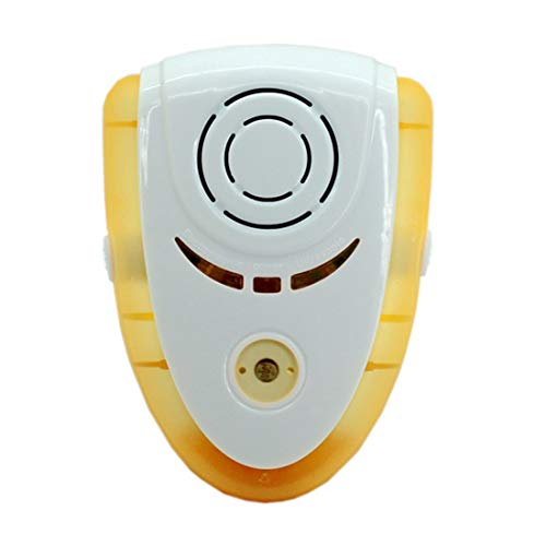 Luz de Usar, CA 90-240V, Enchufe Europeo, la lámpara de Control de plagas de Mosquitos Repelente Electrónico 6W Mini, Monsteramy (Color : Yellow)