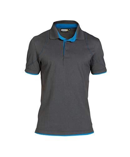 DASSY Dassy Herren 5414729099064 Polo-Shirt, Grigio/Blu, S