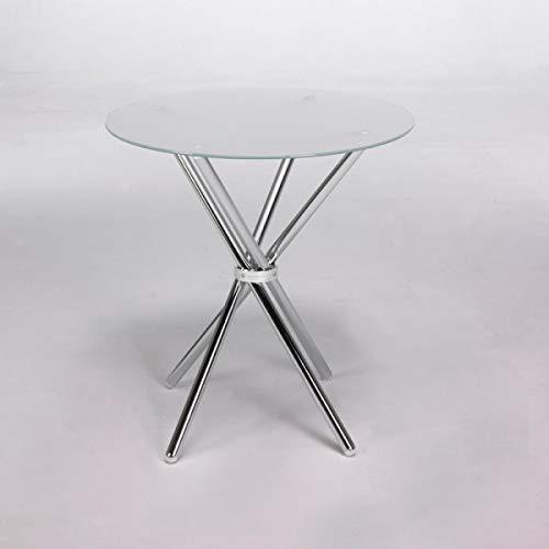 Tavolo 80 cm da pranzo o cucina MIK in vetro bianco o nero msa1037001 DESKandSIT