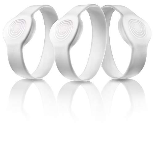 Somfy 2401404, Pulsera RFID deportiva para adulto, Cerradura inteligente, Set 3 pulseras identificativas blancas, cómodas y fiables
