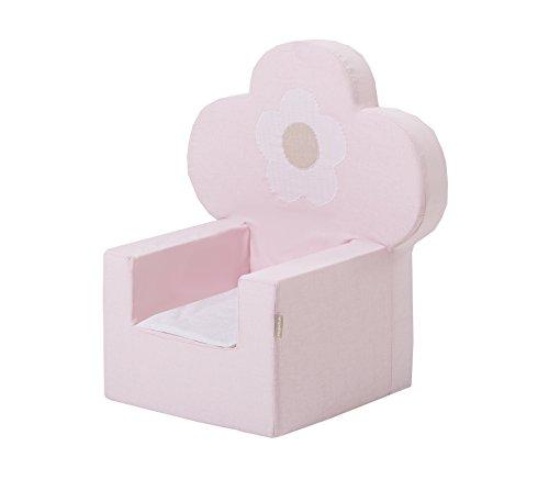 Hoppe Kids Fairytale Flower Princesse Mousse, Chaise avec accoudoirs, 100% Coton certifié Ökotex, Plastique, Rose, 60 x 40 x 60 cm