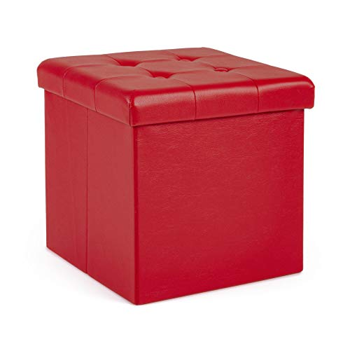 pouf contenitore rosso YES EVERYDAY Magda Pouf Contenitore