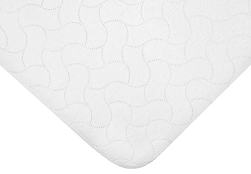 American Baby CompanyWaterproof Reusable Embossed Quilt-Like Flat Crib Protective Mattress Pad Cover for babies, adults and pets, White
