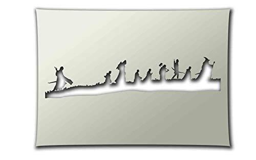 PixieBitz The Herr der Ringe – Die Gefährten – Schablone – A4 Größe zum Sprühen, Airbrush, Schwamm, Aerosol, Pastellkreiden und Schneespray