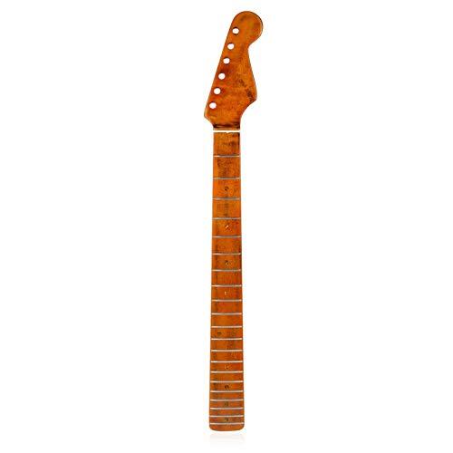 advancethy - Chitarra elettrica in acero con manico a 21 tasti Stratocaster per ST Strat (legno)