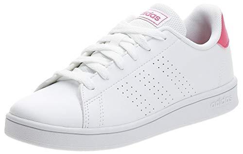 adidas Advantage K, Sneaker Unisex Niño, Blanc Rose Intense Blanc, 34 EU