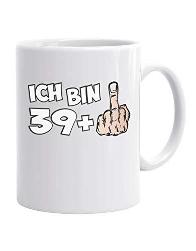 Jayess - Geschenk Kaffeebecher - Ich Bin 39 Plus 1 - Mittelfinger zum 40. Geburtstag