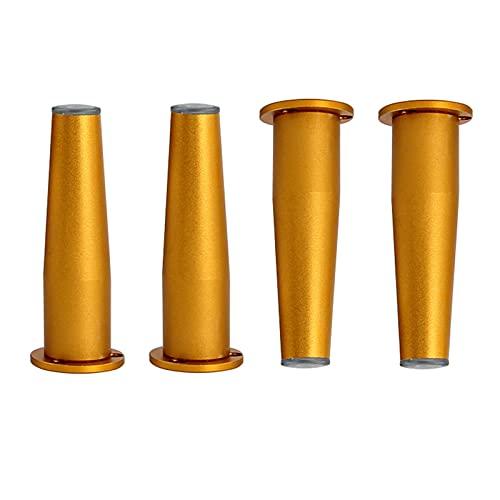 WYBW Pies de soporte para muebles, 4 patas de muebles, pies de mesa, patas de soporte cilíndricas para sofás, camas, escritorios, sillas, altura ajustable, impermeable, patas de gabinete deslizante,