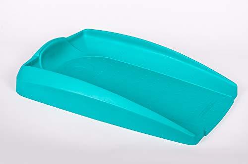 Nannak Cambiador de Bebé Impermeable y Confortable para Cómoda | Antideslizante con Medidor | para después del Baño y cambio de Pañales | Diseño funcional para Bebé, Verde Turquesa